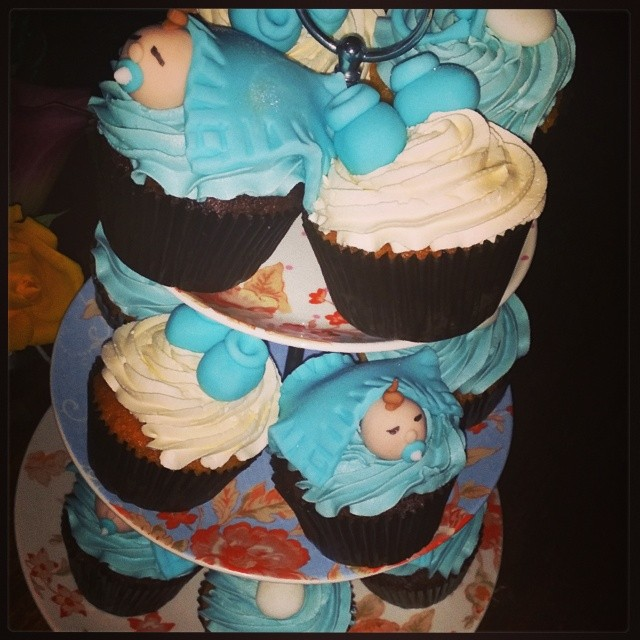 Cupcakes made by our very own baker cake cupcake baby